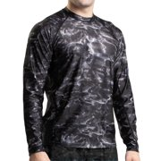 Aqua Design Men Loose Fit Long Sleeve UPF Athletic Swim Surf Sun Protection Rash Guard Shirt