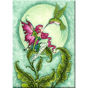 Amy Brown, FLIRTING - Original Licensed Fairy Artwork Fridge MAGNET, 2.5