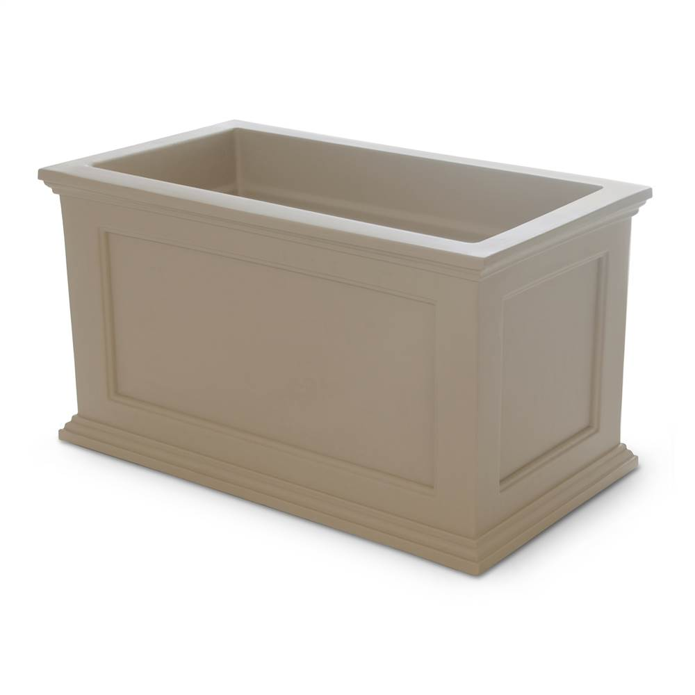 36 In Fairfield Rectangular Patio Floor Planter In Clay Finish