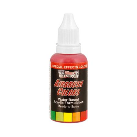 US Art Supply 1-Ounce Special Effects Red Pearl Airbrush Paint
