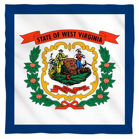 - West Virginia Flag Bandana (White, 22x22)