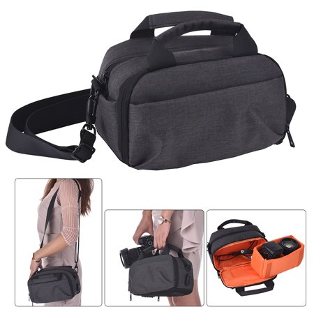 Camera Bag Waterproof DSLR Shoulder Bag with USB External Charging Port for Canon Nikon Sony Camera Accessories Laptops Tablets Small Size