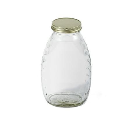 Little Giant Farm and Ag HJAR16 16 oz Glass Honey Jar, 12 Per Case ()