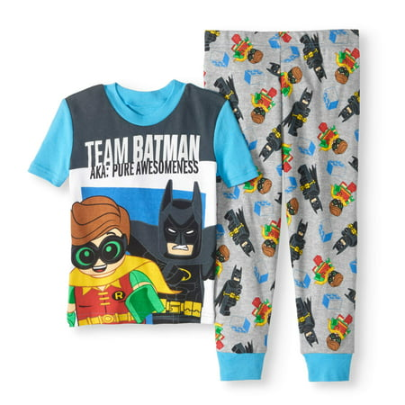 Lego Batman Boys' 'Team Batman' Glow In The Dark 2 Piece Pajama Set