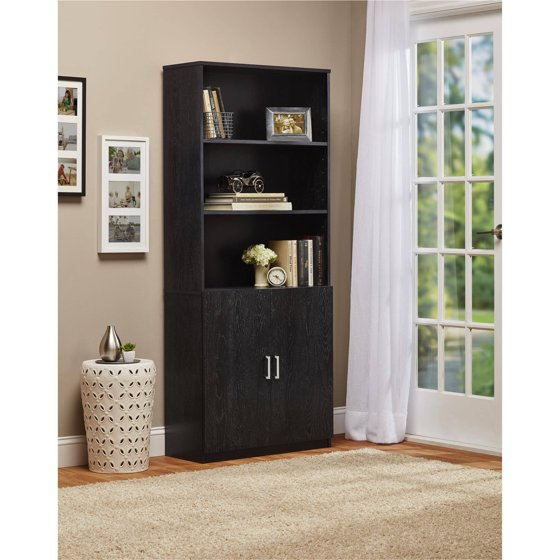 Ameriwood 3 Shelf Bookcase With Doors Walmart Com