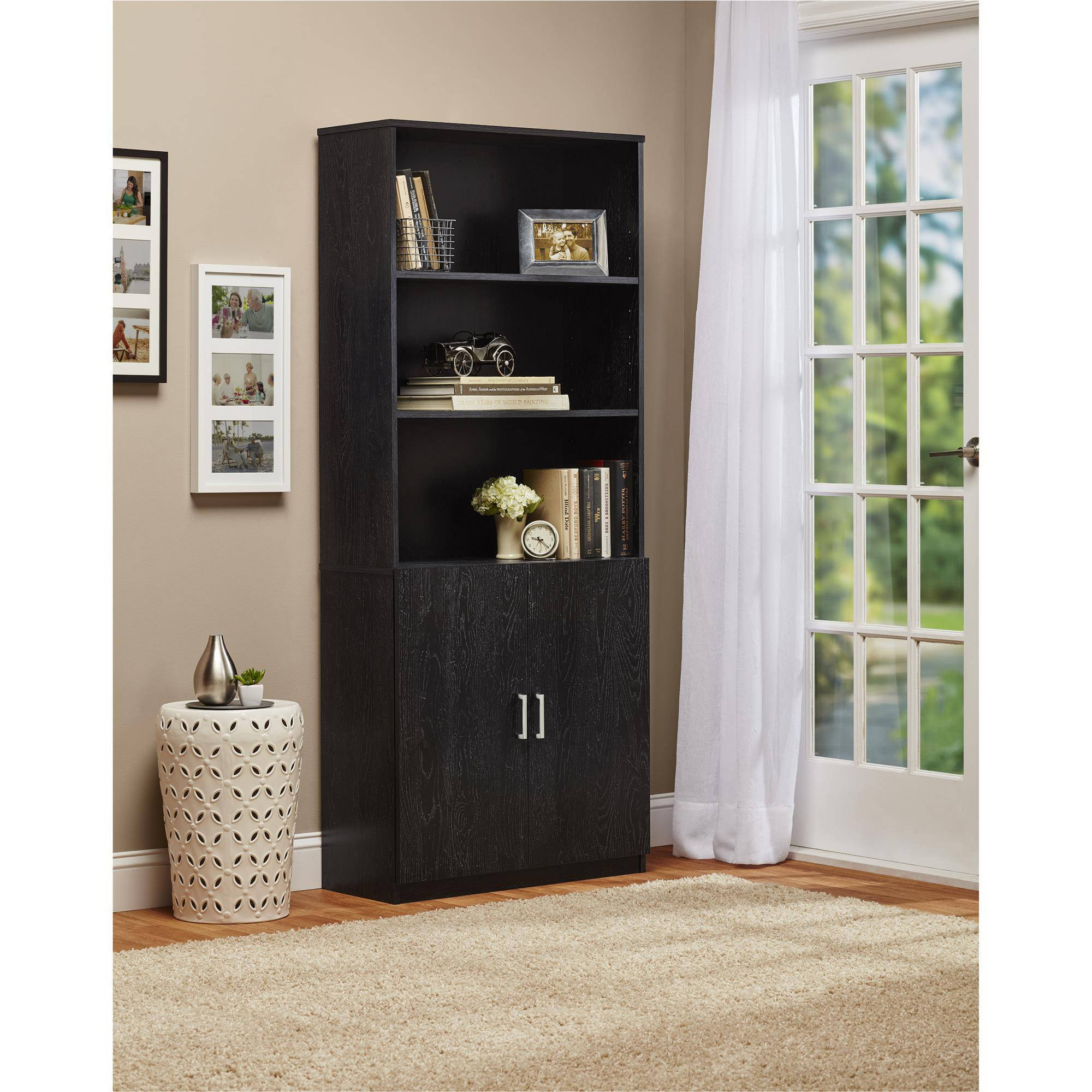 Ameriwood 3 Shelf Bookcase With Doors