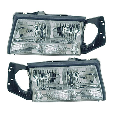 Pair New Left Right Headlight Assembly For Cadillac DeVille 1997 1998 1999