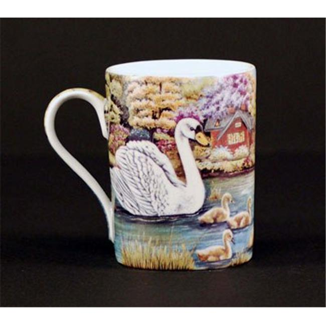 Euland China B0-010S Set Of Two 12-Ounce Mugs - Swan