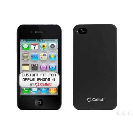Cellet Black Ultra Thin One Piece Proguard For Apple iPhone 4 (AT&T Phone