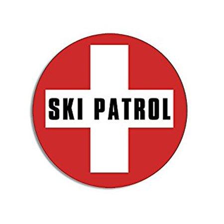 Round Generic SKI PATROL Sticker Decal (snow skiing resort) Size: 4 x 4 inch