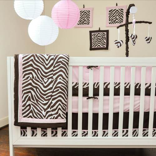 Pam Grace Creations Zara Zebra 10-Piece Crib Bedding Set