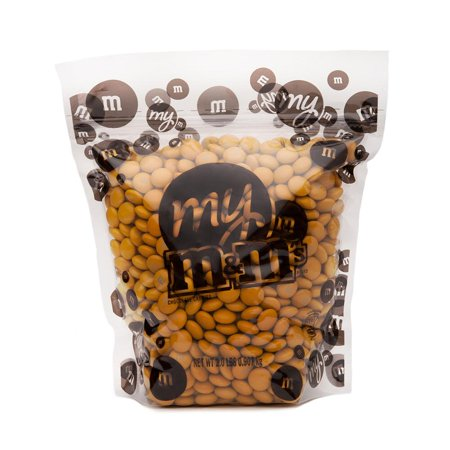 My M&M's Gold 2lbs Bulk Milk Chocolate Candy Reusable Bag - Bulk Candy Bags
