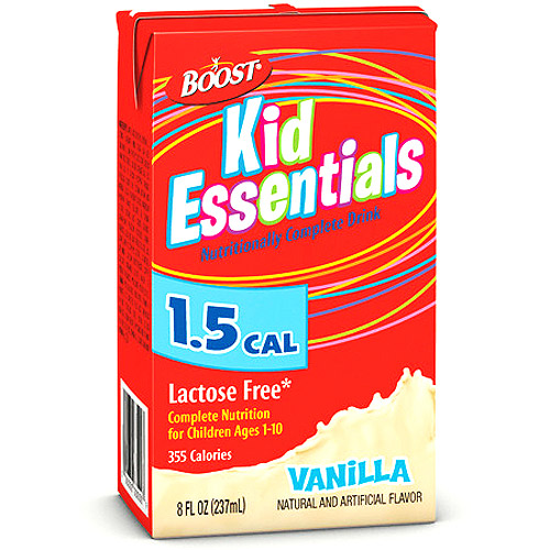 Boost Kid Essentials Nutritionally Complete Drink, 1.5 Cal, French Vanilla 27 X 8-Ounce