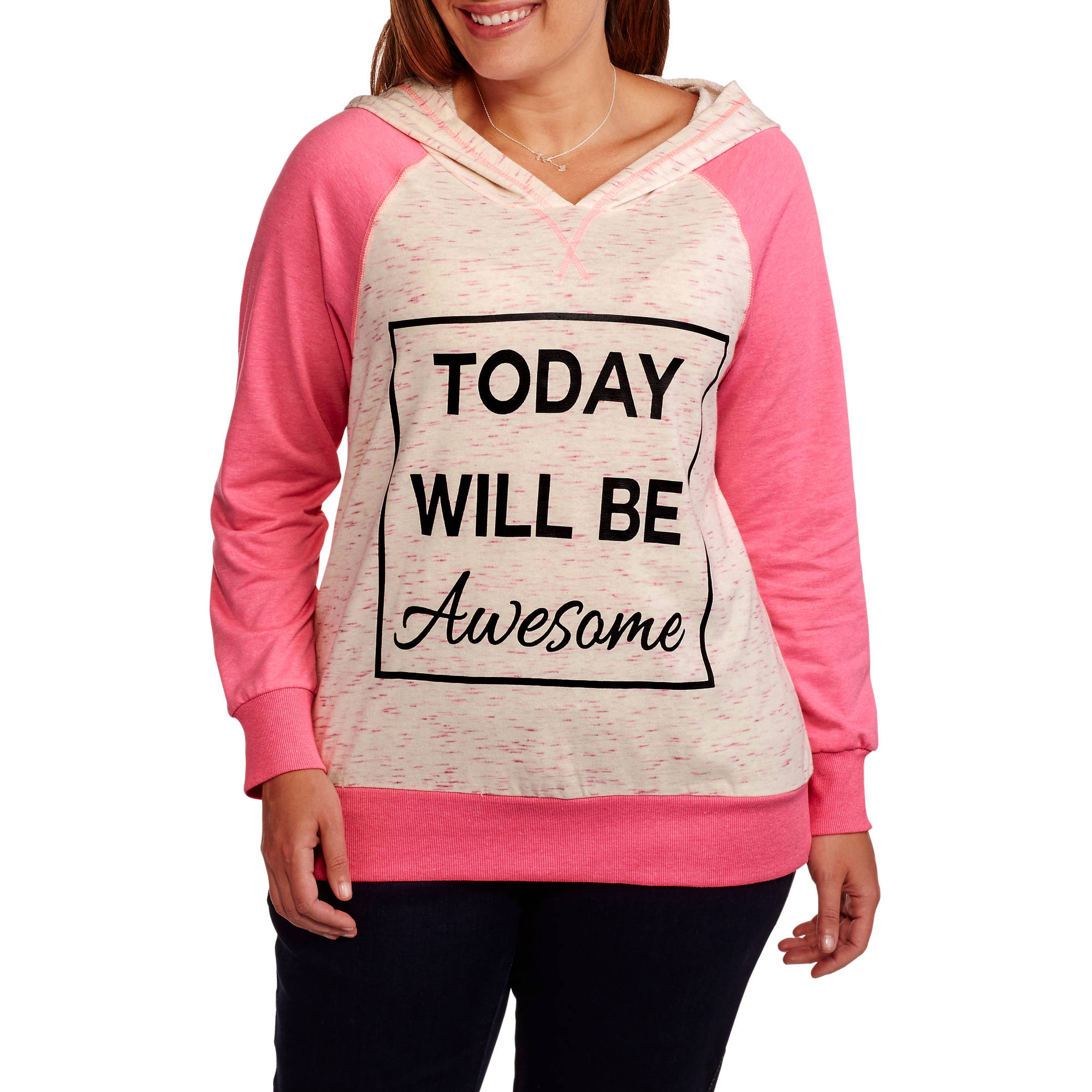 Miss Chievous Women's Plus Raglan Hoodie Awesome