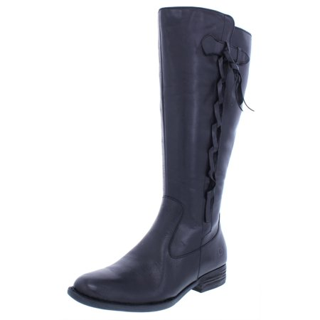 Born Womens Wide Calf Leather Riding (Born Leather Boots)
