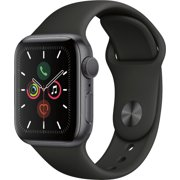 Refurbished Apple Watch Gen 5 Series 5 40mm Space Gray Aluminum - Black Sport Band MWV82LL/A