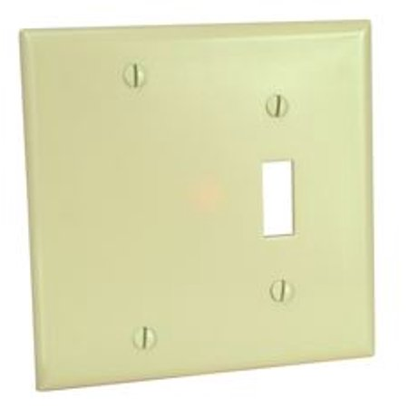 Cooper Wiring Devices 4171v Box One Toggle Blank Wall Plate Ivory Pack Of 30