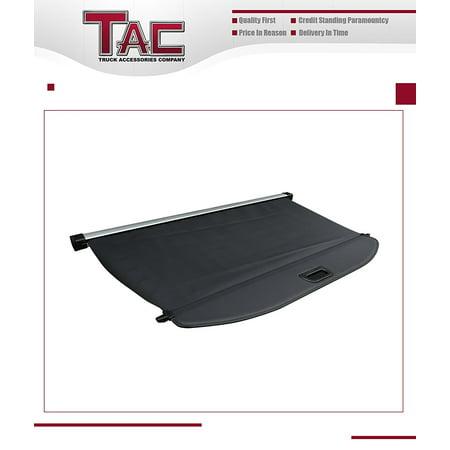 TAC Cargo Cover for 2016-2017 Kia Sorento (Black Color) Black Retractable Waterproof Rear Trunk Cargo Liners Luggage Security Shade Shield