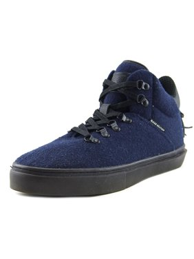 Clear Weather One-Ten High Top Mens Fashion Sneaker Navy Wool CRW-110-NVY