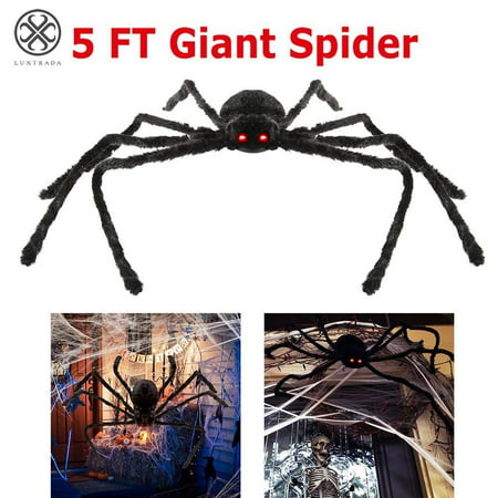 Easy Outdoor Halloween Decorations Pinterest (Luxtrada Halloween Spider for Outdoor Haunt House Halloween Decorations with LED Eyes and Sound –)