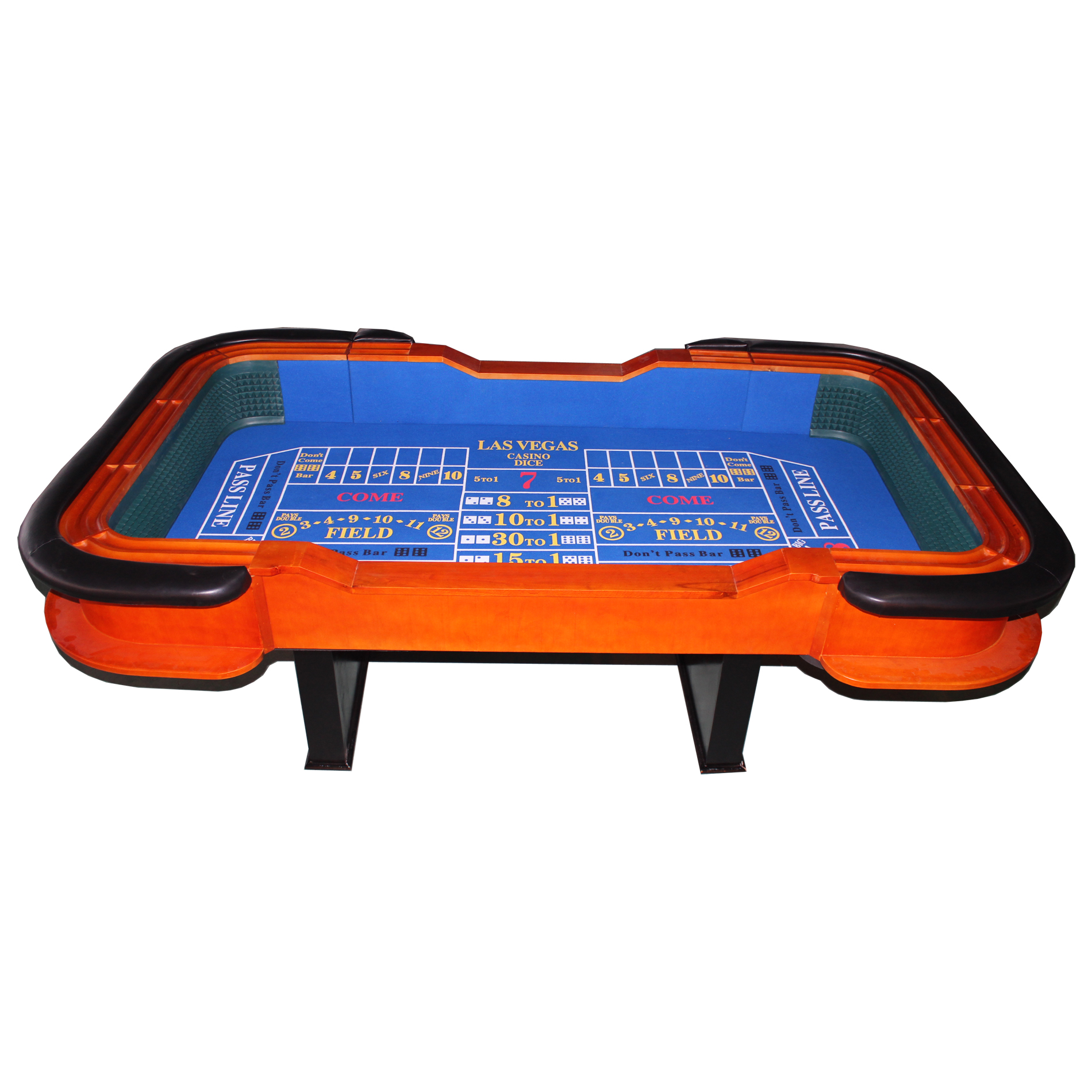 """93"""" Craps Table with Diamond Rubber Craps Game Table"""