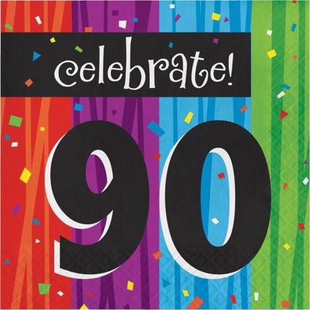 Party Creations Milestone Celebrations 90th Birthday Lunch Napkins, 16 Ct](Happy Birthday 90th)