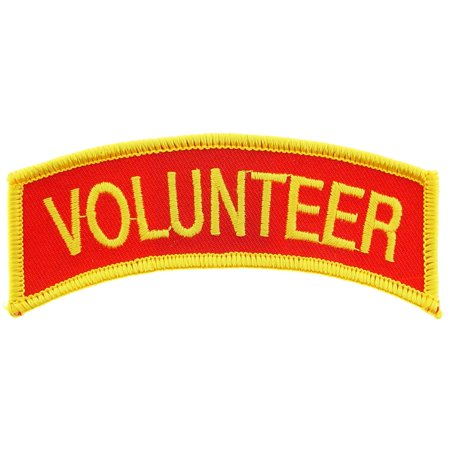 "Volunteer Patch Red & Yellow 1 3/8"" x 4"""