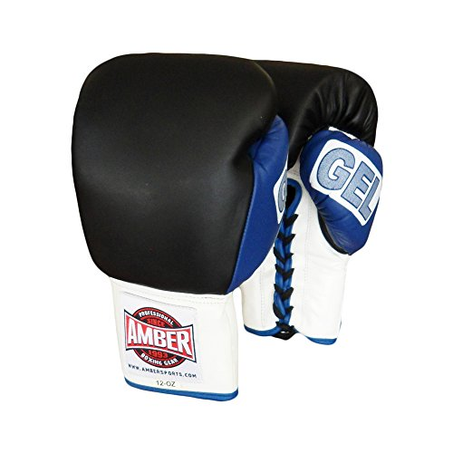 Amber Fight Gear Gel Training Gloves Laceup 14oz
