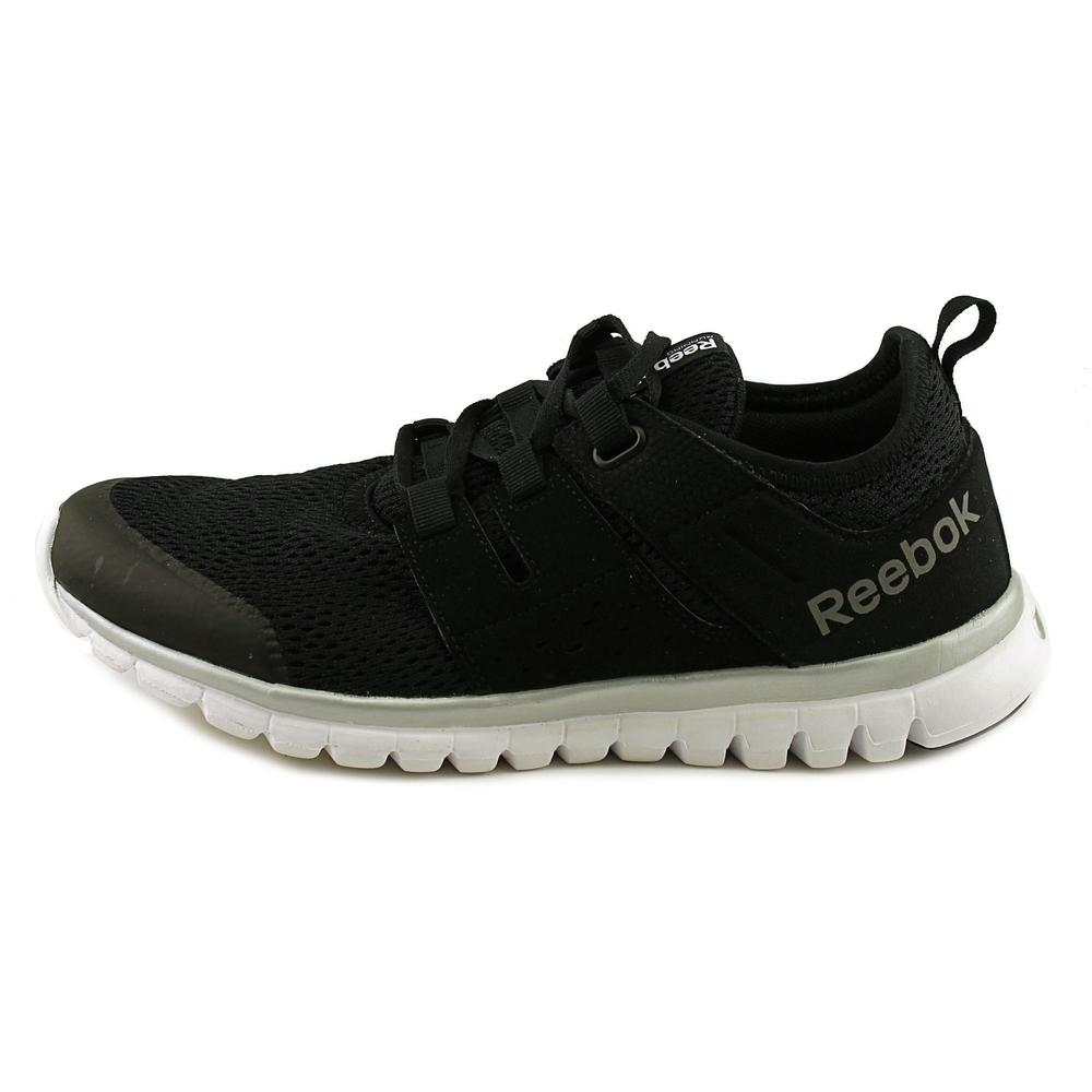 b35ce5e37f27 Reebok - Reebok Women s Sublite Authentic 2.0 Mt Black   White Silver Grey  Ankle-High Fabric Running Shoe - 8.5M - Walmart.com