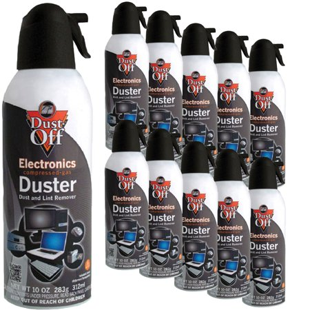 10 pk compressed air computer tv gas cans duster 10 oz dust off laptop keyboard. Black Bedroom Furniture Sets. Home Design Ideas