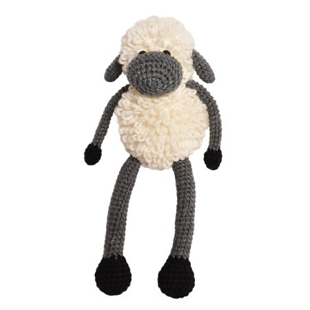 - Cream-Grey Sheep Handmade Amigurumi Stuffed Toy Knit Crochet Doll VAC