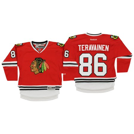 Reebok NHL Kids Chicago Blackhawks Teuvo Teravainen #86 Player Jersey, Red