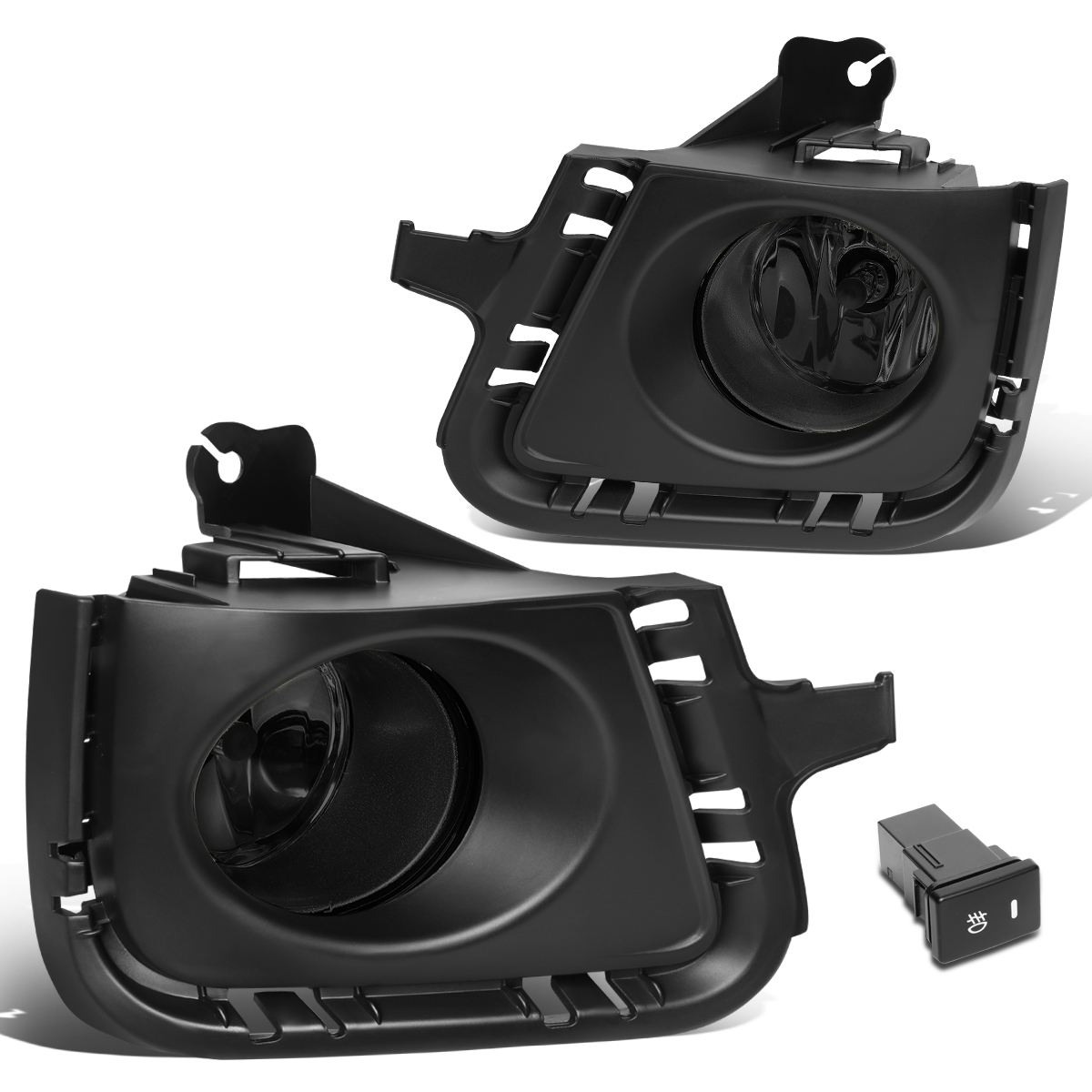 For 12-14 Toyota Prius C Pair Front Bumper Driving Fog Light/Lamp+Bezel+Switch Smoked Lens 13