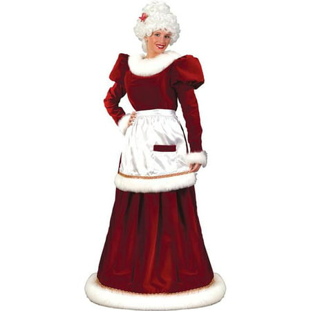 Costumes For All Occasions Fw7571Ml Santa Mrs Velvt Dress Md Lg](Mrs Santa Lingerie)