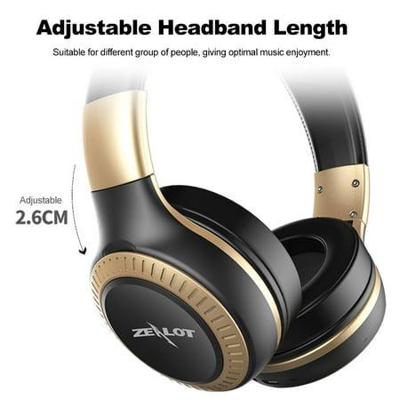 ZEALOT B20 Headphone Wireless Stereo Earphone Foldable Over Ear Headset 3.5mm AUX In Hands-free w/ Microphone - image 4 of 7