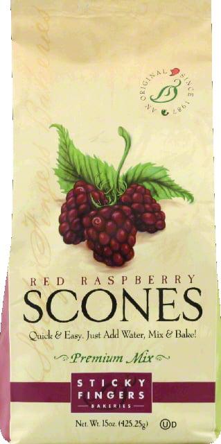 Sticky Fingers Bakeries Scones Mix, Premium, Red Raspberry by Sticky Fingers Bakeries