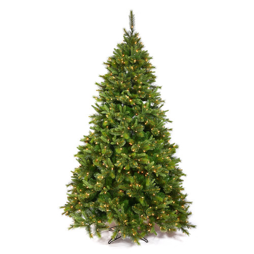 Vickerman Cashmere 12' Green Pine Artificial Christmas Tree with 2200 Dura-Lit Clear Lights with Stand