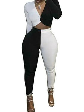 Women Lady Sexy Long Sleeve Romper Jumpsuit Stretchy Bodysuit Club Bodycon Pants