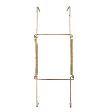 Uxcell Metal 7.5 to 9 Inch Spring Plate Hangers Wall Rack Holder Hook Display Gold Tone - Metal Plate Holder