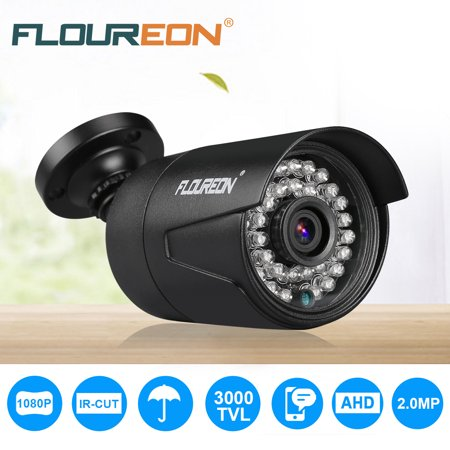 FLOUREON 1080P 2.0MP 3000TVL NTSC Waterproof Outdoor CCTV DVR Security Camera Night