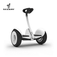 Ninebot S by Segway | Smart Self Balancing Transporter, 13.7 Mile Range, 10 MPH of Top Speed, 10.5-Inch Pneumatic Air Filled Tires, Mobile App Control, Customizable LED Lights (White)