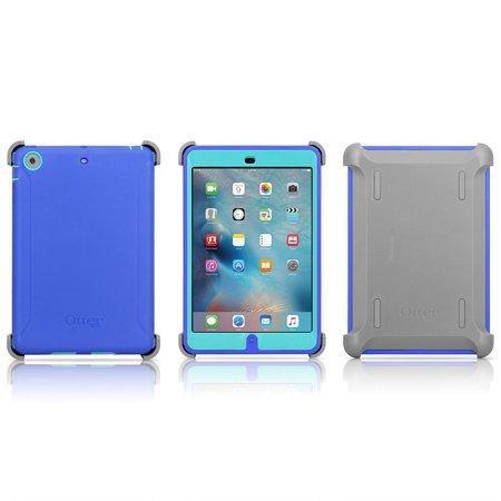 promo code 6f48e 9e239 OtterBox Defender Series Case & Stand for iPad Mini & Mini w/ Retina  Display - Ocean Blue + Light Teal Shell + Gunmetal Gray Stand