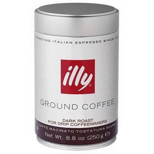 Illy Dark Roast Ground Coffee for Drip Coffeemakers & French Presses 8.8 Oz.