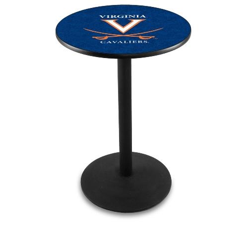 NCAA Pub Table by Holland Bar Stool, Black - Virginia Cavaliers, 42'' - L214