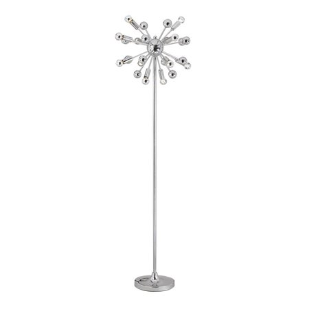 Af Lighting Supernova 12 Light Floor Lamp Chrome