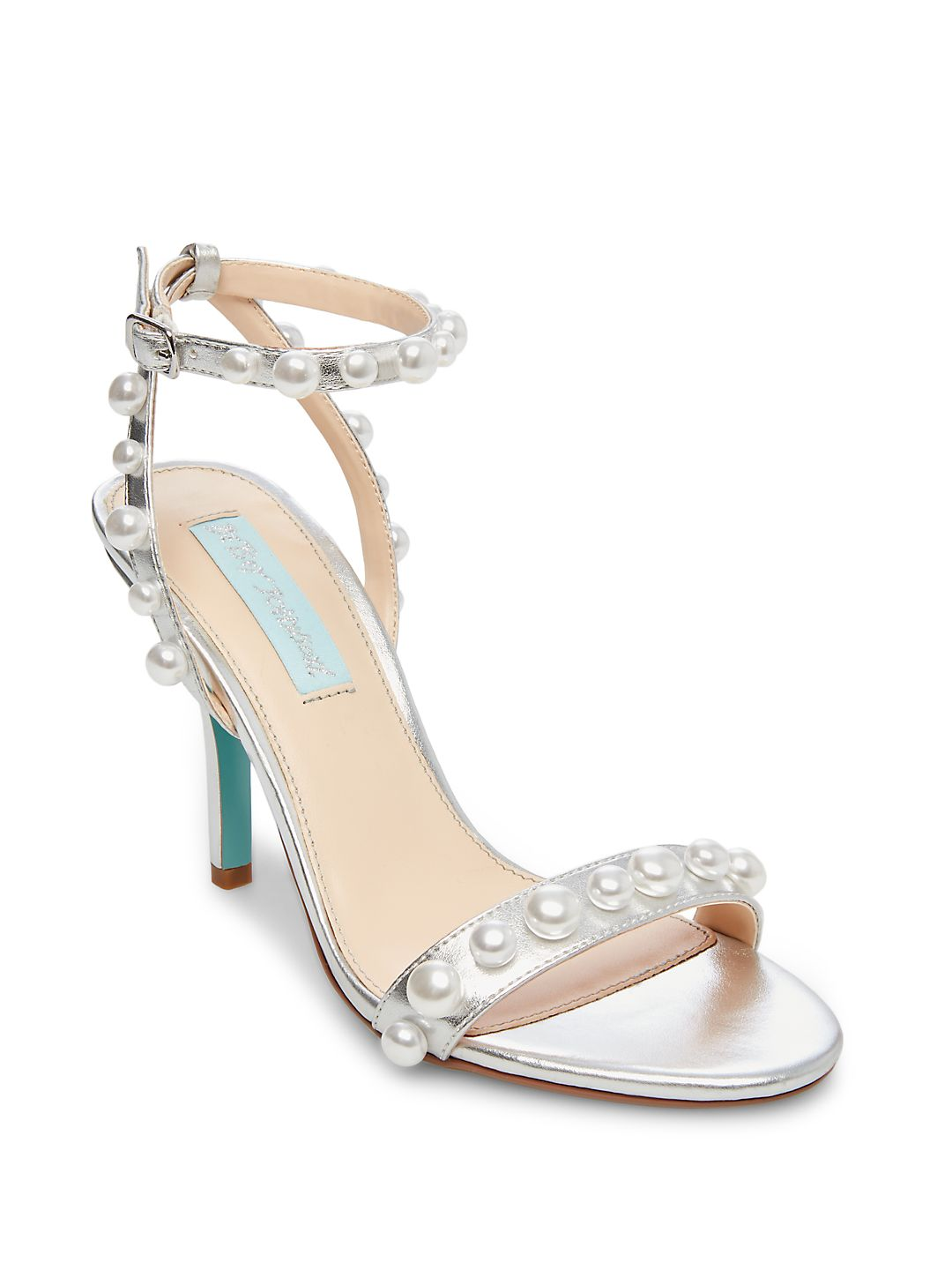 Embellished Metallic Sandals