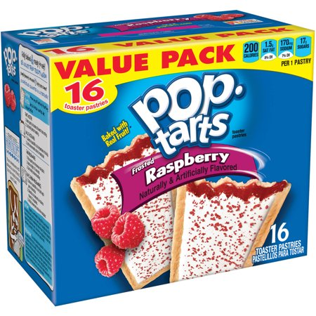 Kellogg's Pop-Tarts Frosted Raspberry Toaster Pastries 16 ct - Walmart ...