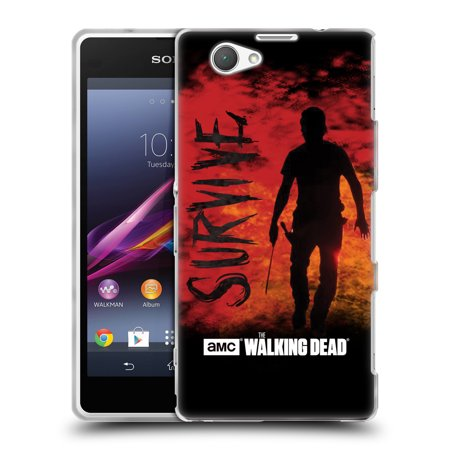 OFFICIAL AMC THE WALKING DEAD TYPOGRAPHY SOFT GEL CASE FOR SONY PHONES 2