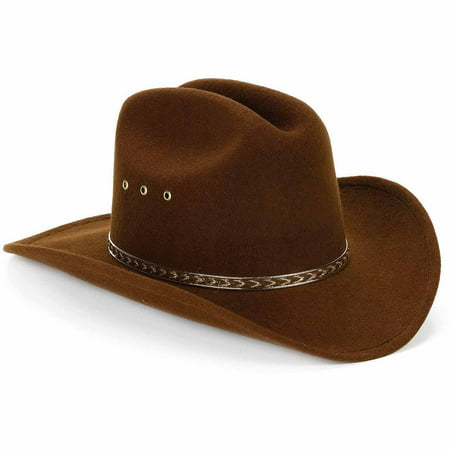 Child Cowboy Hat Brown Child Halloween Costume Accessory - Kids Face Painted For Halloween