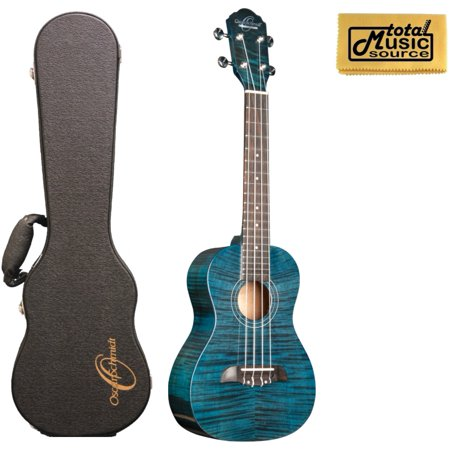 oscar schmidt ou2tftbl flame trans blue tenor ukulele with case. Black Bedroom Furniture Sets. Home Design Ideas